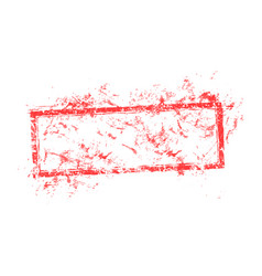 Blank dirty red used business grunge vector