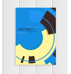 Brochure in abstract style with yellow vector