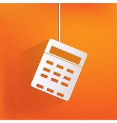 Calculator web icon vector image