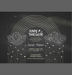 chalk baby shower invitation vector image