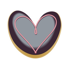 chocolate donut font concept delicious letter v vector image