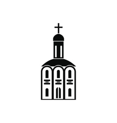Church black simple icon vector