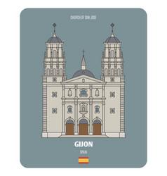 church san jose in gijon spain vector image