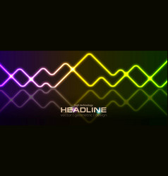 colorful geometric neon laser lines abstract vector image