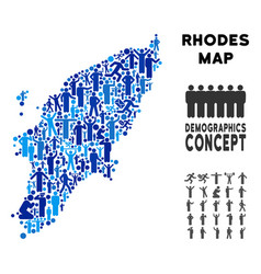 Demographics greek rhodes island map vector