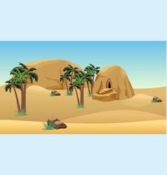 Desert landscape scene for cartoon or game vector