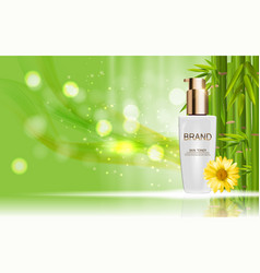 Design cosmetics skin toner product bottle vector