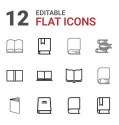 dictionary icons vector image