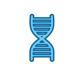Dna chain icon vector