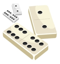 Dominoes on white background vector image