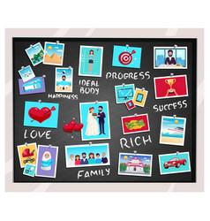 Dreams vision chalkboard vector