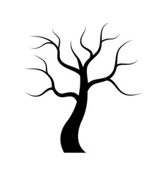 Dry tree icon vector