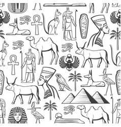 egypt travel and religion seamless pattern vector image