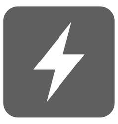 Electric Strike Flat Squared Icon vector