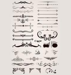 Elements decorative ornaments vector