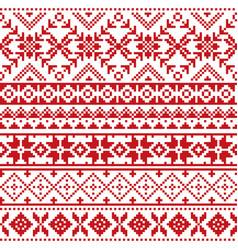 fair isle traditional knitwear pattern vector image
