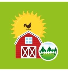 Farm countryside weather vane design vector