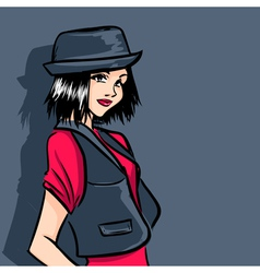 Fashionable teenager vector image