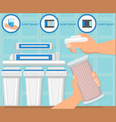 Filter replacement business vector