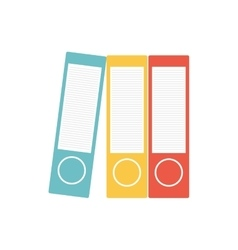 Folder office object instrument icon vector
