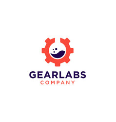 gear labs logo icon vector image
