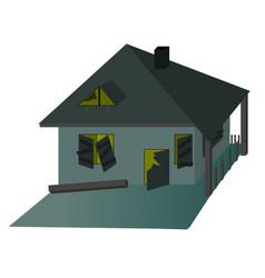Green haunted house vector