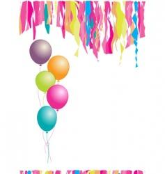 happy birthday balloons and confetti vector image