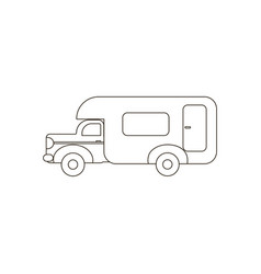House on wheels trailer vector