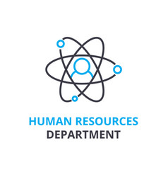 Human resources department concept outline icon vector