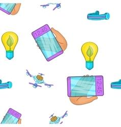 Innovative gadgets pattern cartoon style vector