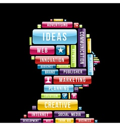 Internet creative ideas profile vector image