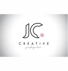Jc letter logo design with creative modern trendy vector
