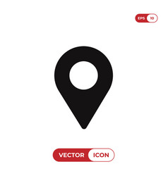 location icon pin symbol map pin pointer vector image