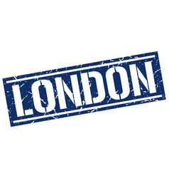london blue square stamp vector image