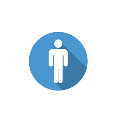 male icon graphic design template vector image