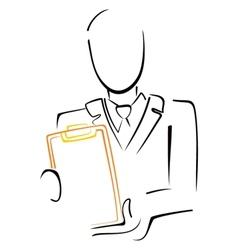 Man with menu vector image