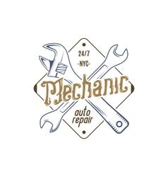 Mechanic repair service label vector