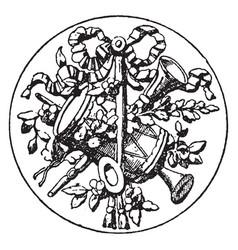 Medallion symbol is a symbol a tambourine vector