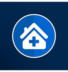 Medical hospital sign icon Home medicine symbol vector image