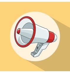 Megaphone pop art comic design vector