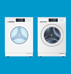 modern washing machine front view vector image