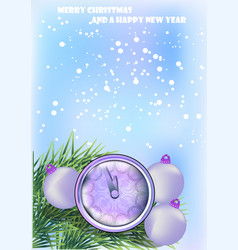 new year background with clock vector image