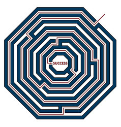 Octagonal labyrinth vector