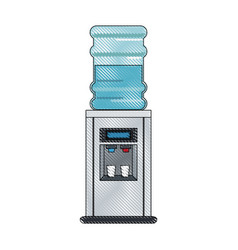 Office water dispenser vector