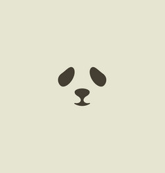 Panda face logo seal logotype sea lion vector