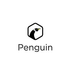 penguin logo design vector image