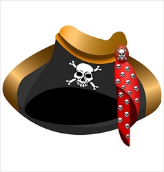 Pirate hat tricorn vector