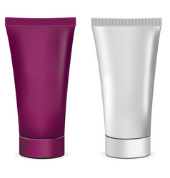 plastic or metal realistic 3d cream tubes white a vector image