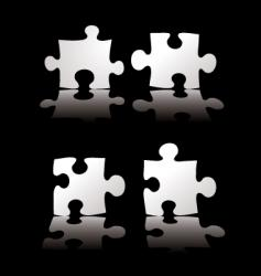 puzzle shadow vector image