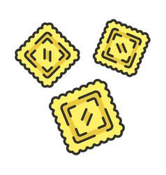 ravioli color icon vector image